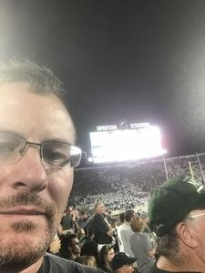 Ben attended Michigan State Spartans vs. Utah State Aggies - NCAA Football on Aug 31st 2018 via VetTix