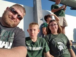 Andrew attended Michigan State Spartans vs. Utah State Aggies - NCAA Football on Aug 31st 2018 via VetTix