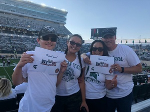 Russell attended Michigan State Spartans vs. Utah State Aggies - NCAA Football on Aug 31st 2018 via VetTix