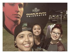 Sara attended 2018 Honda Civic Tour Presents Charlie Puth Voicenotes on Aug 15th 2018 via VetTix