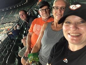 Carrie attended Baltimore Orioles vs. Oakland Athletics - MLB on Sep 12th 2018 via VetTix