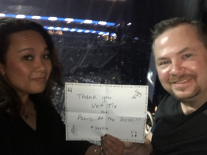 Gregory attended Panic! At the Disco Pray for the Wicked Tour on Aug 18th 2018 via VetTix