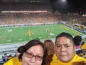 Anthony attended Arizona State University Sun Devils vs. UTSA - NCAA Football on Sep 1st 2018 via VetTix