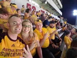 Marshall attended Arizona State University Sun Devils vs. UTSA - NCAA Football on Sep 1st 2018 via VetTix