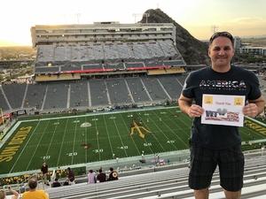 Bryan attended Arizona State University Sun Devils vs. UTSA - NCAA Football on Sep 1st 2018 via VetTix