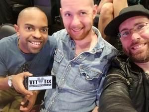 James Turner attended Sam Smith 8/21 at Pepsi Center in Denver on Aug 21st 2018 via VetTix