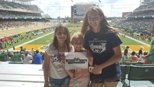 Duane attended Baylor University Bears vs. Duke - NCAA Football on Sep 15th 2018 via VetTix