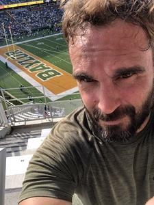 Matthew attended Baylor University Bears vs. Duke - NCAA Football on Sep 15th 2018 via VetTix