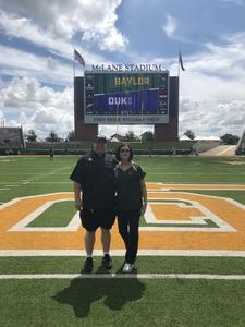 Jason Bottino attended Baylor University Bears vs. Duke - NCAA Football on Sep 15th 2018 via VetTix