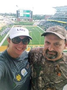 Shannon attended Baylor University Bears vs. Duke - NCAA Football on Sep 15th 2018 via VetTix