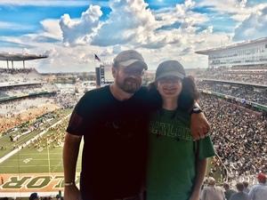 Eric attended Baylor University Bears vs. Duke - NCAA Football on Sep 15th 2018 via VetTix