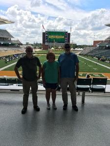 Gene attended Baylor University Bears vs. Duke - NCAA Football on Sep 15th 2018 via VetTix