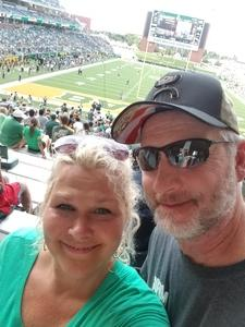 James attended Baylor University Bears vs. Duke - NCAA Football on Sep 15th 2018 via VetTix