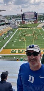 Scott attended Baylor University Bears vs. Duke - NCAA Football on Sep 15th 2018 via VetTix