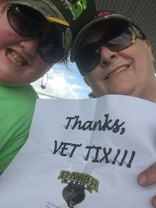 Tina attended Baylor University Bears vs. Duke - NCAA Football on Sep 15th 2018 via VetTix