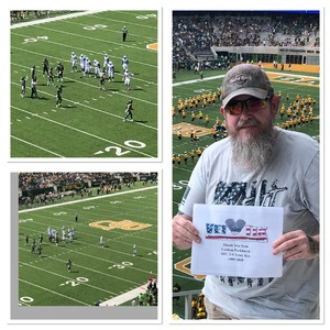 Carl attended Baylor University Bears vs. Duke - NCAA Football on Sep 15th 2018 via VetTix
