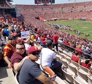 Maria attended USC Trojans vs. UNLV - NCAA Football on Sep 1st 2018 via VetTix