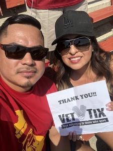 Lizandro attended USC Trojans vs. UNLV - NCAA Football on Sep 1st 2018 via VetTix