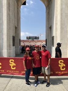 Dominic D. Arguello attended USC Trojans vs. UNLV - NCAA Football on Sep 1st 2018 via VetTix