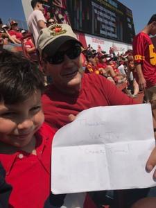Jonathan attended USC Trojans vs. UNLV - NCAA Football on Sep 1st 2018 via VetTix