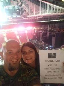 W. Keizer attended The Smashing Pumpkins: Shiny and Oh So Bright Tour - Alternative Rock on Aug 24th 2018 via VetTix