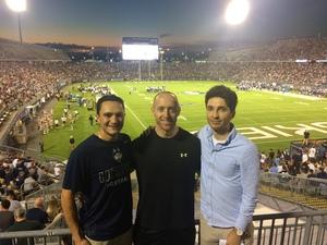 Chris attended UCONN Huskies vs. UCF Knights- NCAA Football on Aug 30th 2018 via VetTix