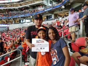 Tomeaka attended Washington Huskies vs. Auburn Tigers - Chick-fil-a Kickoff Game! on Sep 1st 2018 via VetTix