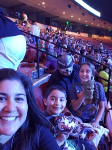 Carlos attended Marvel Universe Live! Age of Heroes - Presented by the Frank Erwin Center on Aug 24th 2018 via VetTix