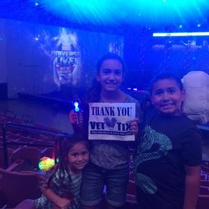 brenna attended Marvel Universe Live! Age of Heroes - Presented by the Frank Erwin Center on Aug 26th 2018 via VetTix