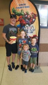 Sean Cook attended Marvel Universe Live! Age of Heroes - Presented by the Frank Erwin Center on Aug 26th 2018 via VetTix