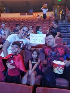 Priscilla attended Marvel Universe Live! Age of Heroes - Presented by the Frank Erwin Center on Aug 26th 2018 via VetTix