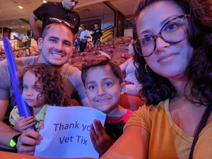 Angel attended Marvel Universe Live! Age of Heroes - Presented by the Frank Erwin Center on Aug 26th 2018 via VetTix