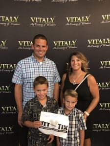 Jason attended Vitaly an Evening of Wonders - Wednesday Matinee on Aug 29th 2018 via VetTix