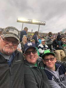Tony attended Notre Dame Fightin' Irish vs. Vs. Ball State Cardinals - NCAA Football on Sep 8th 2018 via VetTix