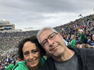 David attended Notre Dame Fightin' Irish vs. Vs. Ball State Cardinals - NCAA Football on Sep 8th 2018 via VetTix