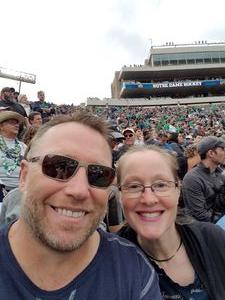 Kerry attended Notre Dame Fightin' Irish vs. Vs. Ball State Cardinals - NCAA Football on Sep 8th 2018 via VetTix