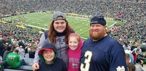 Jeffery attended Notre Dame Fightin' Irish vs. Vs. Ball State Cardinals - NCAA Football on Sep 8th 2018 via VetTix