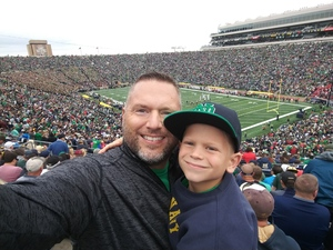 Paul attended Notre Dame Fightin' Irish vs. Vs. Ball State Cardinals - NCAA Football on Sep 8th 2018 via VetTix
