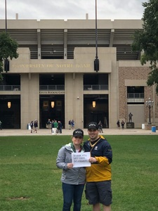Patrick attended Notre Dame Fightin' Irish vs. Vs. Ball State Cardinals - NCAA Football on Sep 8th 2018 via VetTix