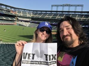 Alex attended Colorado Rockies vs San Francisco Giants - MLB on Sep 4th 2018 via VetTix