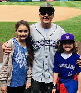 Santino attended Colorado Rockies vs San Francisco Giants - MLB on Sep 4th 2018 via VetTix