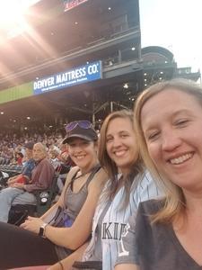Leah attended Colorado Rockies vs San Francisco Giants - MLB on Sep 4th 2018 via VetTix