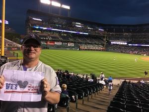 Dennis attended Colorado Rockies vs San Francisco Giants - MLB on Sep 5th 2018 via VetTix
