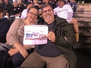 David attended Colorado Rockies vs San Francisco Giants - MLB on Sep 5th 2018 via VetTix