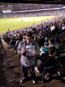 Adam attended Colorado Rockies vs San Francisco Giants - MLB on Sep 5th 2018 via VetTix