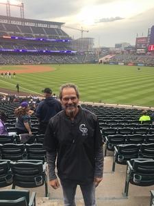 Lawrence attended Colorado Rockies vs San Francisco Giants - MLB on Sep 5th 2018 via VetTix
