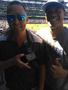 Lucas attended Colorado Rockies vs Arizona Diamondbacks - MLB on Sep 13th 2018 via VetTix