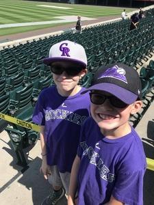 Thomas attended Colorado Rockies vs Arizona Diamondbacks - MLB on Sep 13th 2018 via VetTix