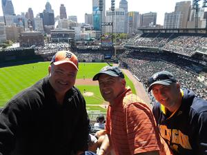 JEFFREY attended Detroit Tigers vs. Kansas City Royals - MLB on Sep 23rd 2018 via VetTix