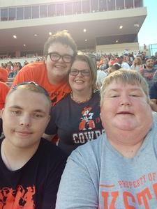 Michele attended Oklahoma State University Cowboys vs. Missouri State - NCAA Football on Aug 30th 2018 via VetTix